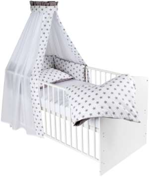 babybett komplett set in wei als angebot g nstig kaufen. Black Bedroom Furniture Sets. Home Design Ideas