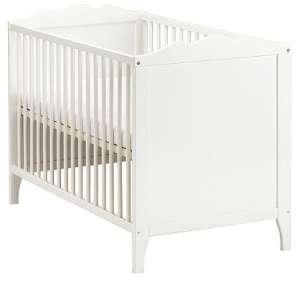 Kinderbett weiß 70x140  Ikea Babybett 70x140 cm in weiß mit Matratze kaufen | Beistellbett ...