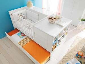 juniorbett leander wei umbaubar zu kinderbett 70 x 160 beistellbett test. Black Bedroom Furniture Sets. Home Design Ideas