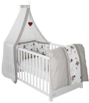 roba babybett wei 4 in 1 zu vereinen beistellbett test. Black Bedroom Furniture Sets. Home Design Ideas